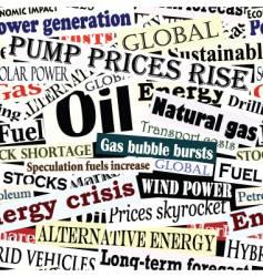 Energy headlines vector