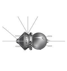 The first spaceship Vostok vector image