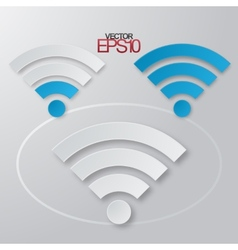 Modern flat minimalistic design wifi with vector