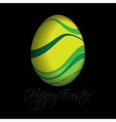 Greeting card with text - colored easter egg vector