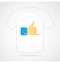 T-shirt with funny print on white vector