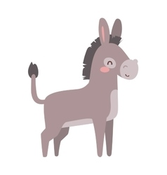 Cartoon donkey animal vector