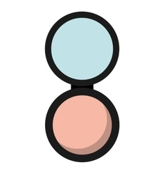 Powder makeup product isolated icon design vector