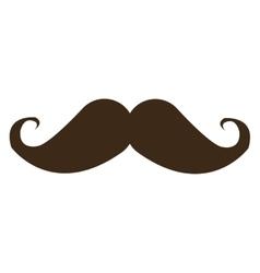 Curly mustache icon vector
