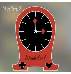 Alice clocks from wonderland world vector