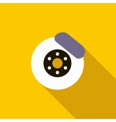 Brake disk icon flat style vector