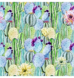 Cactus seamless patterns vector