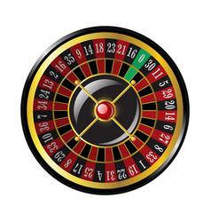 Casino roulette - modern isolated clip art vector