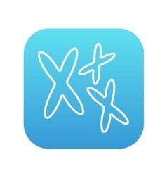 Chromosomes line icon vector image