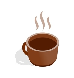 Cup of hot drink icon isometric 3d style vector image vector image