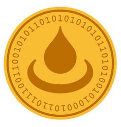Drop ripple digital coin vector