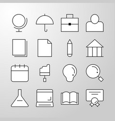 Education school university thin line icon vector