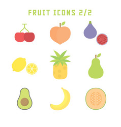 Fruit icons two vector