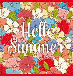 hello summer lettering best for banner vector image vector image