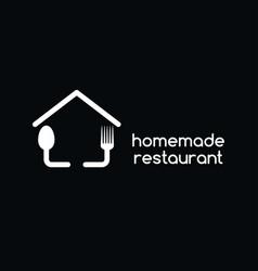 Homemade restaurant vector
