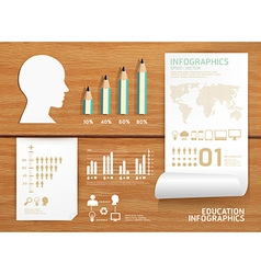 infographics set and Information education vector image vector image