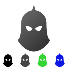 Knight helmet flat gradient icon vector