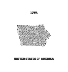 Label with map of iowa vector