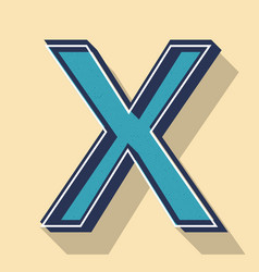 Letter x retro text style fonts concept vector