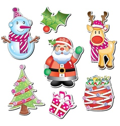 merry christmas element vector image