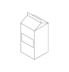 Milk icon isometric 3d style vector image