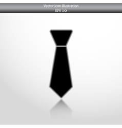 necktie web flat icon vector image vector image