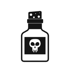 Poison bottle icon black simple style vector image