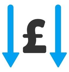 Receive pound flat icon symbol vector