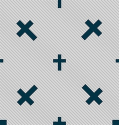 Religious cross christian icon sign seamless vector