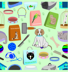 seamless pattern for a pet shop vector image