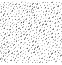 Seamless pattern with raindrops vector