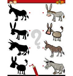 Shadow game with donkey vector