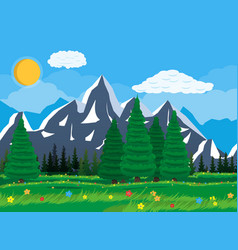 summer nature mountain landscape national park vector image vector image