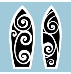Surf board tattoo style vector