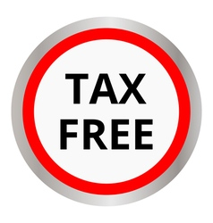 tax free icon vector image