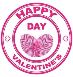 Valentine stamp vector