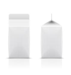 White cardboard milk package vector image vector image