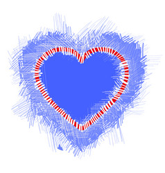 with a blue valentine heart vector image