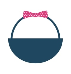 Basket bow isolated icon vector