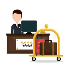 Luggage transport service isolated icon vector