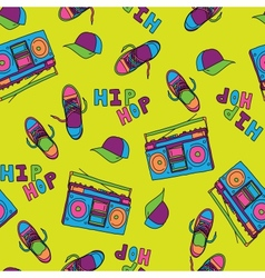 Hip hop music seamless pattern vector