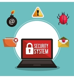 Data protection security system network vector