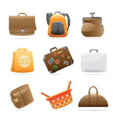 Icons for bags vector