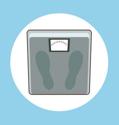 weight scale measure sport vector image