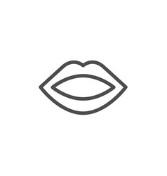 Human mouth line icon vector