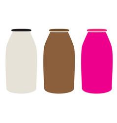 Milk bottles icon on white background milk vector
