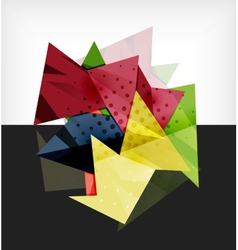 Abstract composition 3d geometric shapes vector