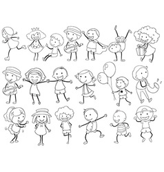 Simple kids doodle vector image