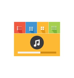 Music player 34 vector image