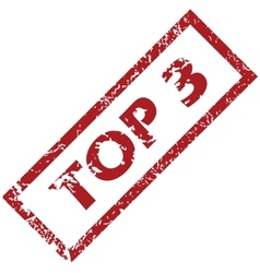 Stamp Top 3 vector image